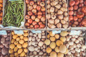 Obst und Gemüse auf dem Markt