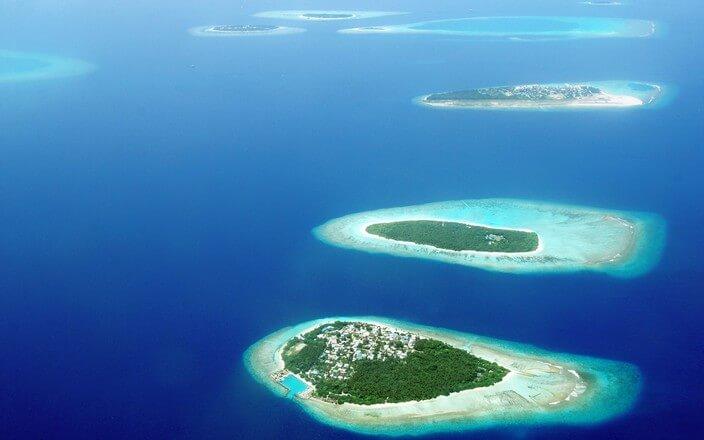 Südseeinseln aus Vogelperspektive