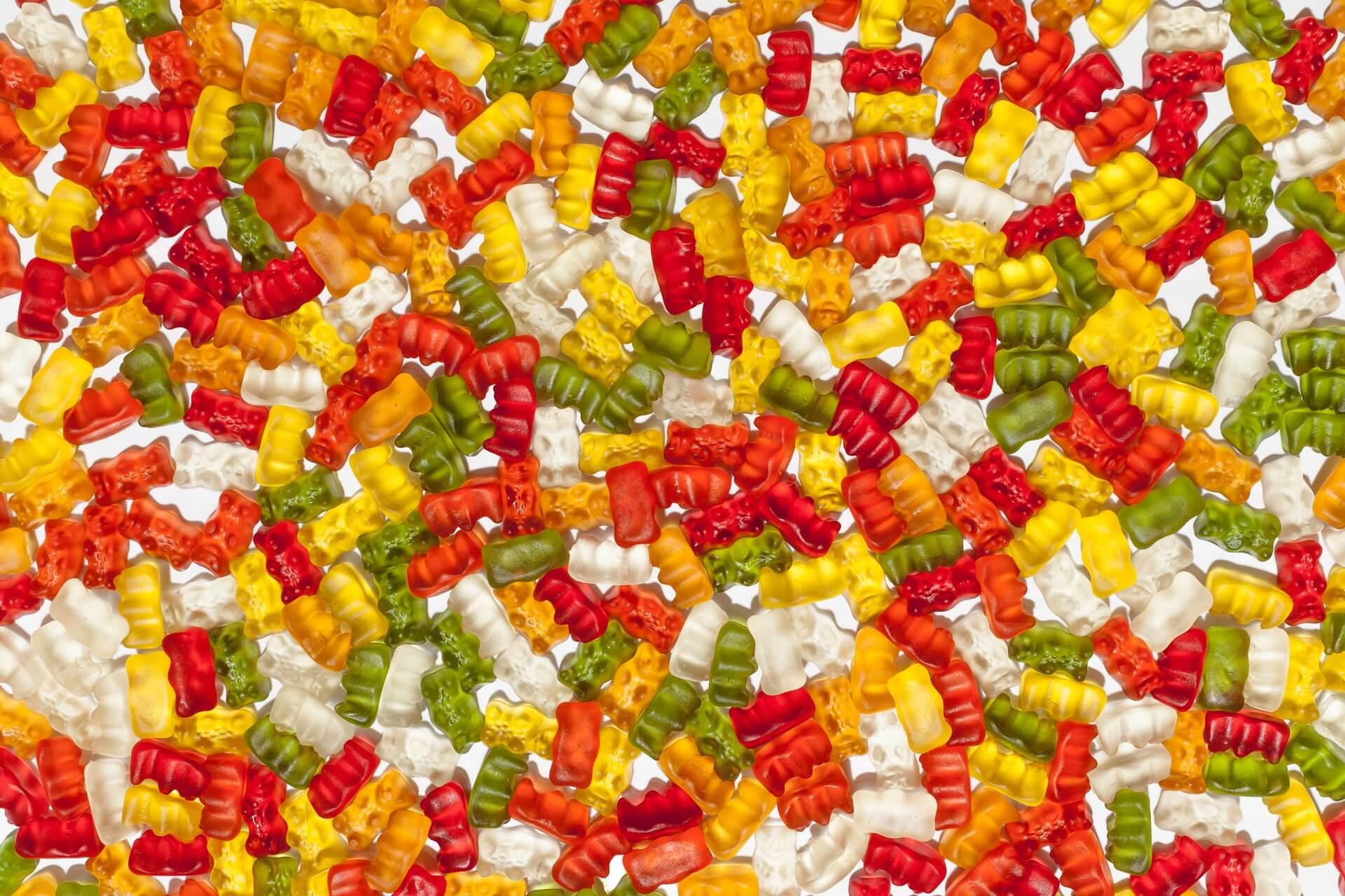 Gummibärchen Süßigkeiten unverpackt